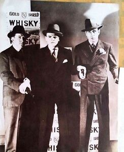 11x14 Humphrey Bogart and Cagney sepia movie poster