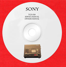 Service manual owner manual for Sony TCD-D10 on 1 cd in pdf format