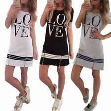 Unbranded Crew Neck Summer/Beach Shirt Dresses for Women