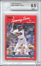 SAMMY SOSA Chicago Cubs White Sox 1990 Donruss rookie BGS 8.5
