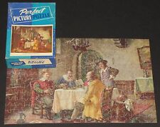 "VINTAGE PERFECT PICTURE JIGSAW PUZZLE ""A PERPLEXING PROBLEM"" COLONIAL MEN  CIB"