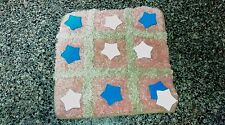 handmade Tic tac toe travel game with cloth bag board, playing pieces