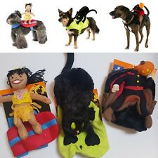 Halloween Dog Rider Costume Comedy Funny Pet Fancy Dress Outfit  Small - X Large