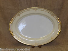 Noritake Galatea Gold Encrusted Oval Serving Platter 16""