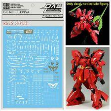 For Bandai RG 1/144 MSN-04 Sazabi Gundam Model Kit WaterSlide Decal Sticker RG25