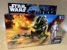 Star Wars TFA Assault Walker and 3.75 Inch StormTrooper Action Figure NIB