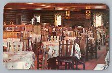 Houghton Lake Michigan MI Johnson's Rustic Resort Dining Hall Postcard 1950s