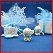 Portachiavi mongolfiera celesti bomboniere nascita battesimo compleanno bimbo