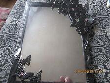 Miroir salle de bain noir avec détails papillon jeter un oeil