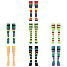 1 Pairs Women Striped Middle Tube Socks Breathable Good Elastic for_Dancing Gift