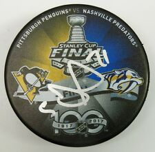 EVGENY MALKIN SIGNED 2017 STANLEY CUP FINAL PUCK PENGUINS PREDATORS COA 1009384