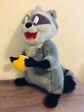 "Disney Parks Pocahontas Raccoon Plush Meeko 17"" Disneyland Poseable Arms & Head"
