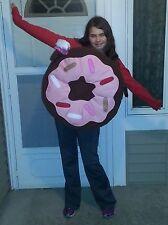 NWT GIRLS POTTERY BARN KIDS/TEEN SIZE 9-10 BROWN PINK DONUT HALLOWEEN COSTUME