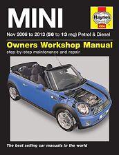 Haynes Owners Workshop Manual MINI Cooper S Petrol Diesel (06-13) SERVICE REPAIR