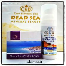 Anti-Wrinkle Cream + Anti-Aging Serum Dead Sea Mineral Care & Beauty Spa Lot