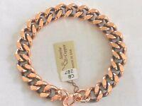 "NEW Solid Copper 9"" Heavy Chain Link Bracelet - Arthritis Relief Folklore"