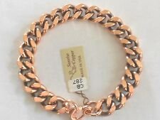 "NEW Solid Copper 9"" Heavy Chain Link Bracelet - Arthritis Relief Folklore"
