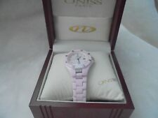 Oniss Swiss Pink Ceramic Diamonds Mother of pearls Watch NEW