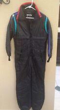 Vtg 80s/90s WHITE STAG Women's Sz 10 Black/Purple Snow Ski Suit-Thinsulate -