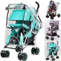 Baby Universal Stroller Rain Cover Wind Dust Shield Pushchair Cover Wheelchair