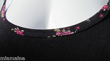 NEW 1X PYRAMID COLLECTION tank top black pink roses trim soft sexy cute cami ooh