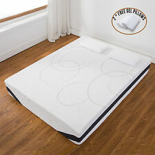 """12"""" Inch Queen Size Cool  Medium-Firm Memory Foam Mattress Bed w/2 Free Pillows"""