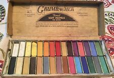 GRUMBACHER 30 SOFT PASTELS VINTAGE CAT. NO. 00/C FINEST ARTIST USED HALF LENGTH.