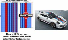 Le Mans Martini style Stripe/Logo fit Porsche 911 Sticker A648L special Order