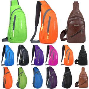 Mens Crossbody Chest Bag Climbing Sling One Shoulder Backpack Sports Travel Pack