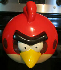 Angry Birds Red Coin Piggy Bank Ceramic Large Rovio Discontinued 2012 Large Rare