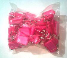 50x Key Tags PINK. Bulk colour ID keytag key ring labels keyring Plastic
