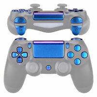 Custom Purple Blue Touchpad Home Full Set Buttons for PS4 Pro Slim Controller