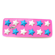B0207 Nicole Star Shape Silicone Chocolate Candy Mold Ice Tray Resin,Clay Craft