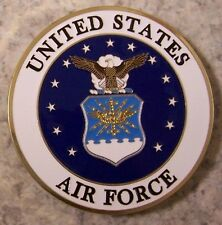 Car Grill Badge Military U S Air Force NEW metal including mounting hardware