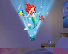 Wild Walls ARIEL THE LITTLE MERMAID wall stickers 10 decals with light & sounds