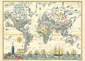 Adventure Map of Captain Ezra Diamond 1933