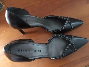 GIANNI BINI heels Black leather 9M