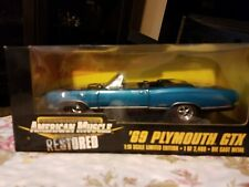 Ertl American Muscle Blue '69 Plymouth GTX Convertible 1 of 2,499 1:18 Scale