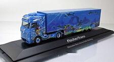 Herpa 121668 Mercedes Benz Actros Bigspace Kühlkoffer LKW Fischer Trans 1 87