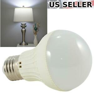 5W LED Cool Daylight White Standard Light Bulb E26 6000K 450lm 40W Equivalent