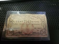 US Philippine 50 Centavos, LEYTE WW2 Guerrila Emergency Note 1943