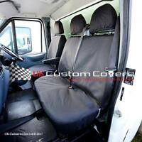 FORD TRANSIT VAN MK 7 WATERPROOF TAILORED FRONT SEAT COVERS 2000-2013 BLACK 239