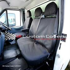 FORD TRANSIT VAN MK 7 WATERPROOF TAILORED FRONT SEAT COVERS 2000-2013 BLACK 239