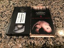 The Blair Witch Project Vhs! 1999 Frightening Forest Horror! Friday The 13th