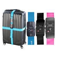 Kofferband TSA-zertifizierter Kreuz-Koffergurt mit Zahlenschloss 5 cm x 400/430