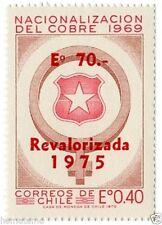 Chile 1975 #863 Revalorizada Nuevo Valor Copper Mining MNH