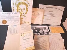 Vintage Nursing Training & Registration & Certificates & CGH 1952 Yearbook, etc.