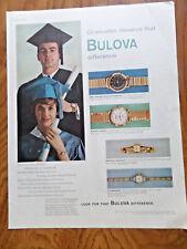 1959 Bulova Watch Ad Shows 4 Models  Graduates Graduation Theme