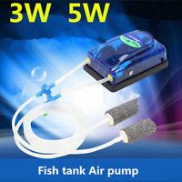 Aquarium adjustable Air Pump Fish Tank Increasing Oxygen Pump Air Compressor UK
