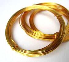 Gold plated round wire - 0.4mm to 1.2mm - jewellery making wirework floristry